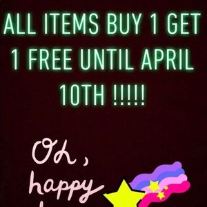 All items are buy one get one free